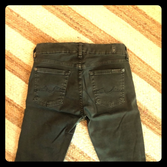 7 For All Mankind Denim - 7 for all Mankind Skinny Jeans Olive Green Size 25